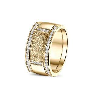 Vingerafdruk ring goud