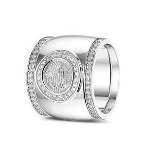 Vingerafdruk ring zilver